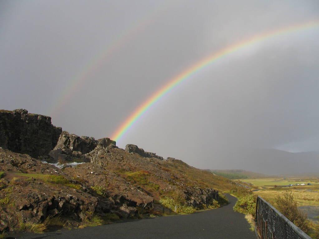 Double Rainbow in Iceland