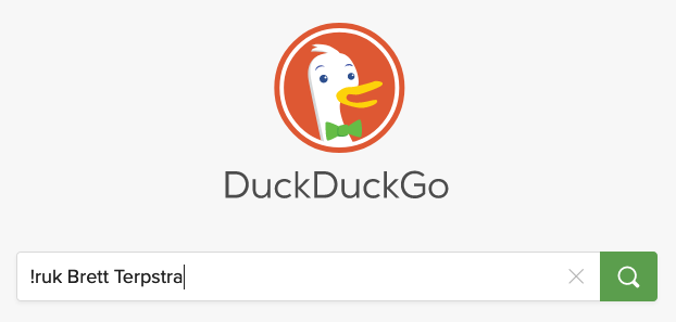 Example of a !ruk search in DuckDuckGo