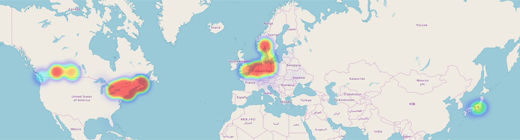 Earth heat map