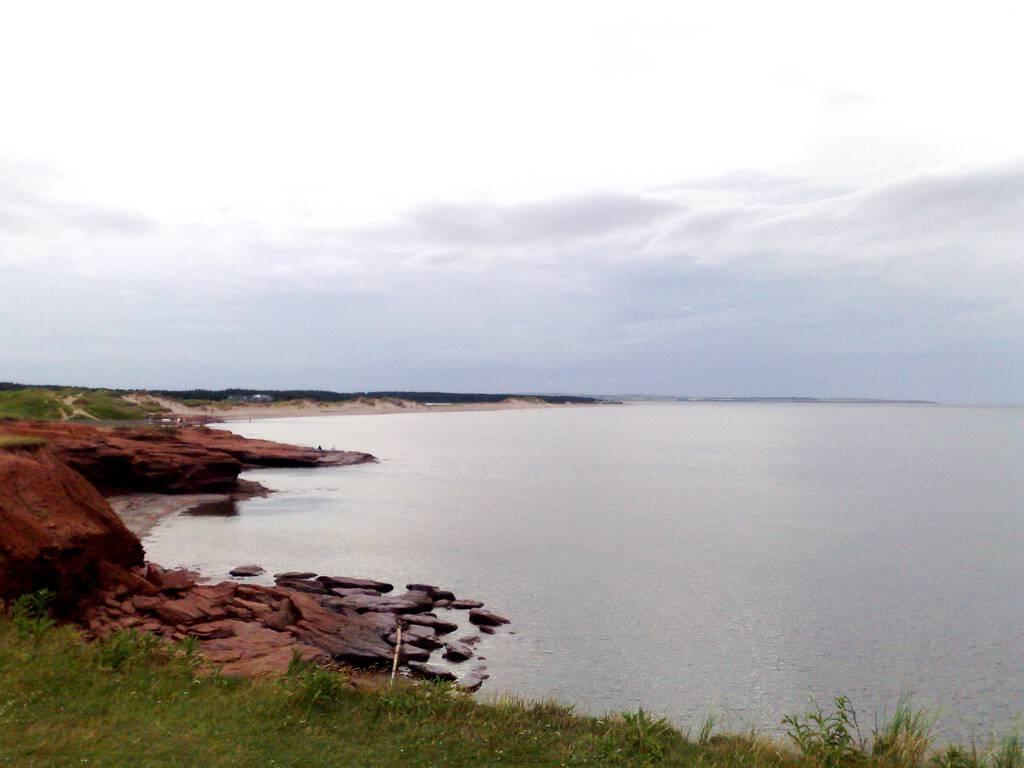 Cavendish Beach Cliffs at Dusk