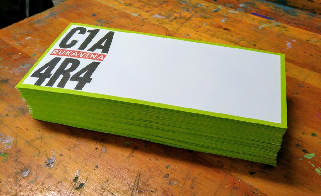 Photo of a stack of C1A 4R4 envelopes