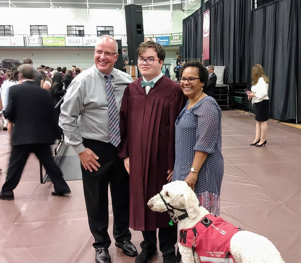 Graduating from high school with Ethan