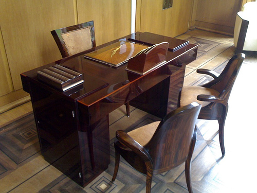 Art Deco Desk and Chairs