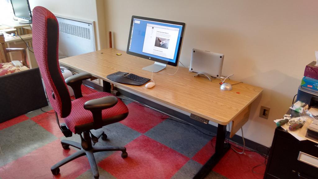 my new jarvis sit stand desk. Black Bedroom Furniture Sets. Home Design Ideas