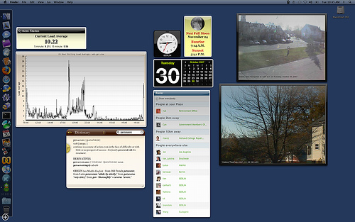 My Mac OS X Dashboard