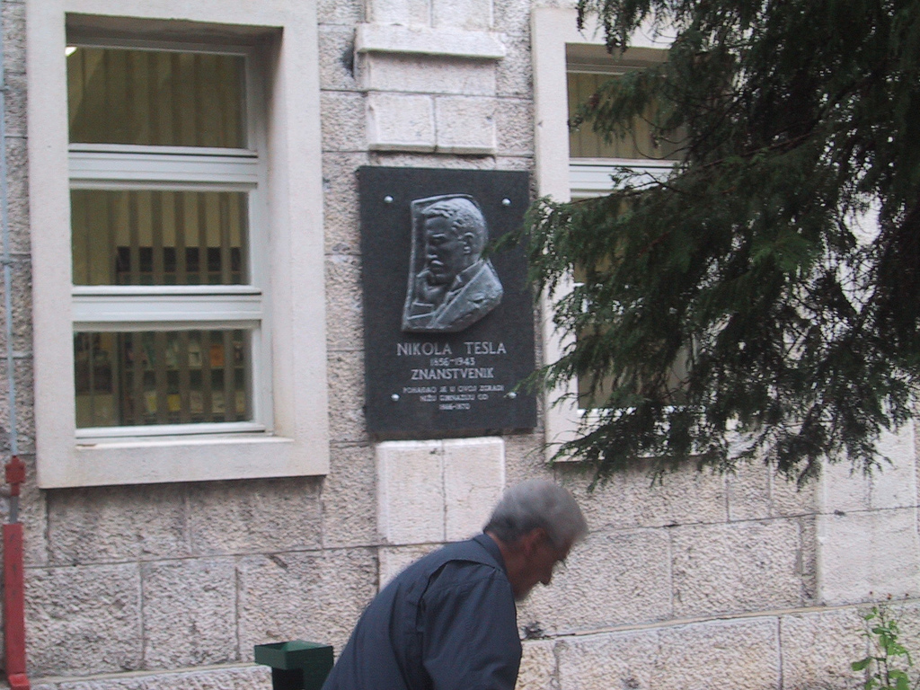 Telsa Monument in Downtown Gospic