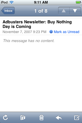 Buy Nothing Day Email