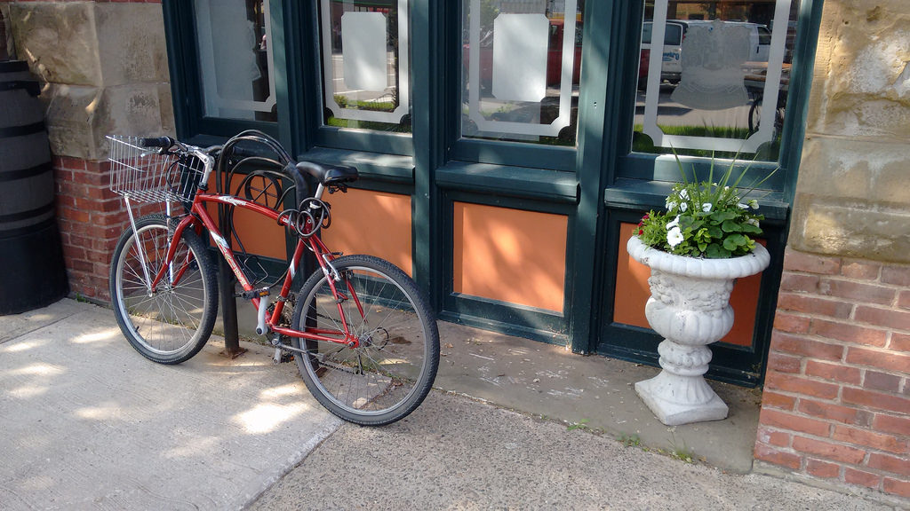 City Hall Bicycle Rack Not Blocked by Planter