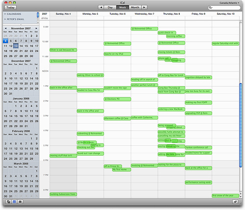 Plazes via iCalendar in my iCal