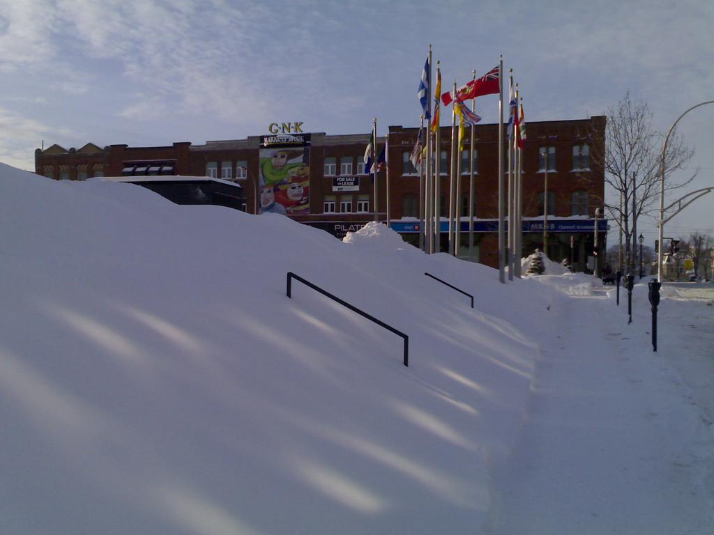 Snow on Confederation Centre Steps