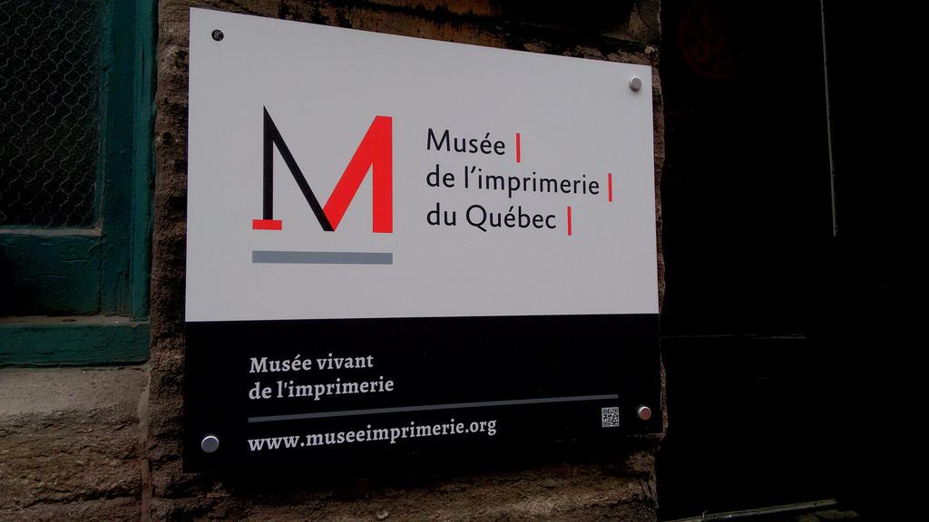 Musée de l'imprimerie du Québec Sign