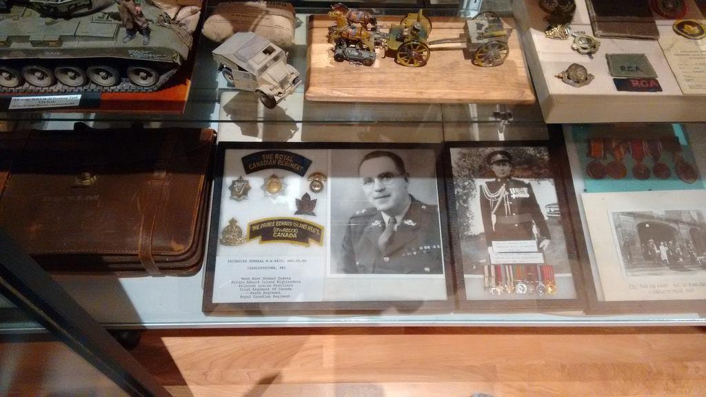 Brigadier Reid in PEI Regiment Museum