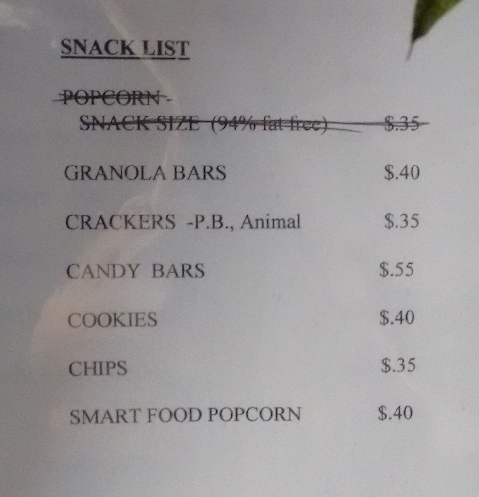 Yankee Publishing Office Snack Bar Prices