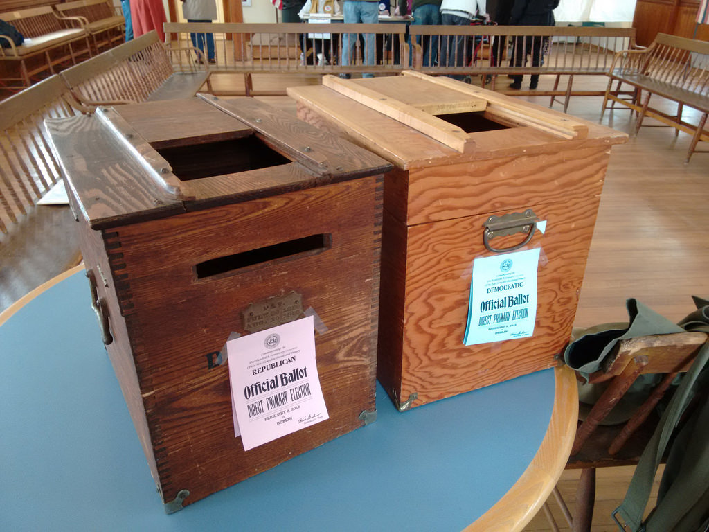 Republican and Democratic Ballot Boxes in Dublin