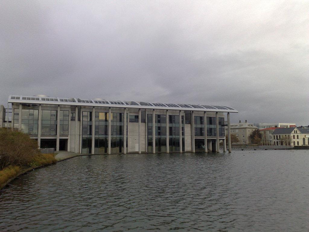 Lake Tjornin, past City Hall