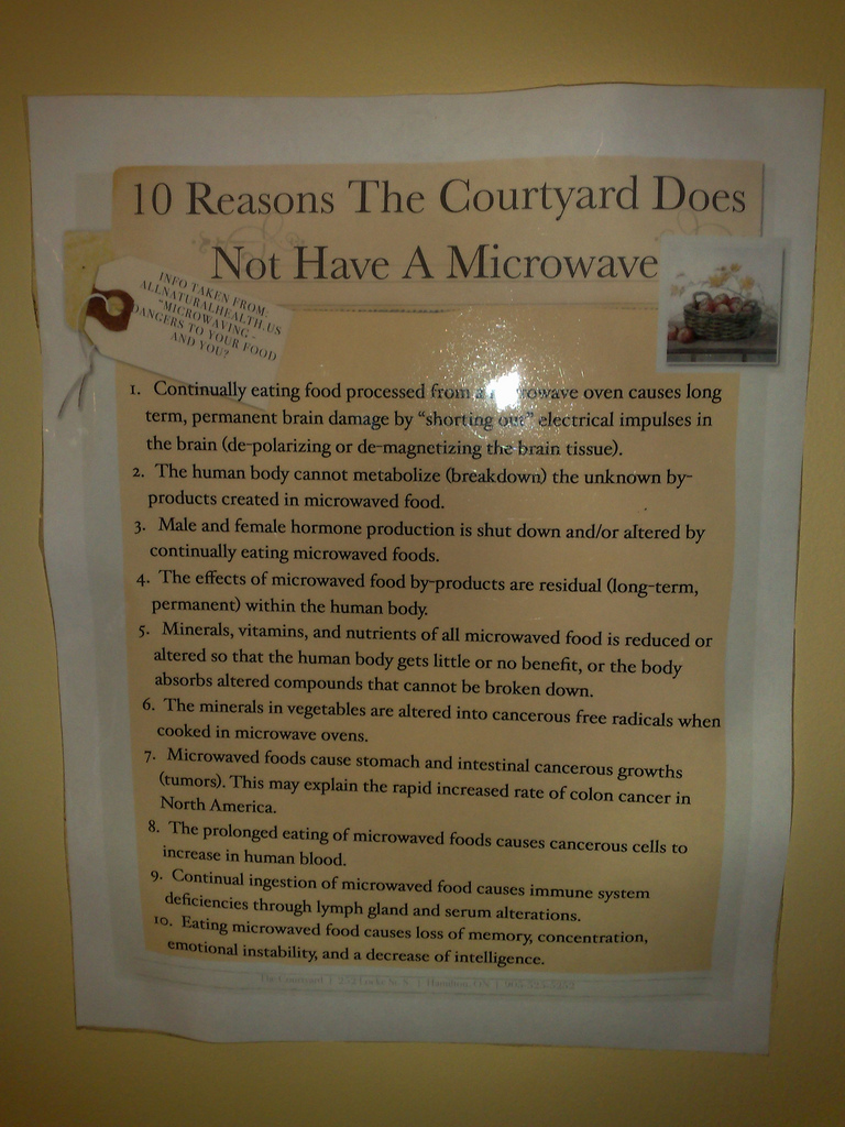 Anti-Microwave Oven Manifesto