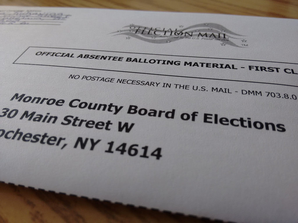 My Absentee Ballot Envelope of the New York State Primary