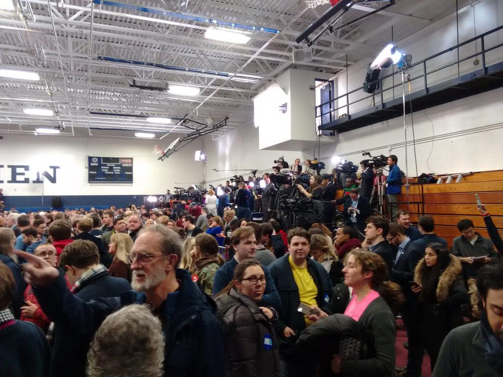 The Media at Clinton Rally