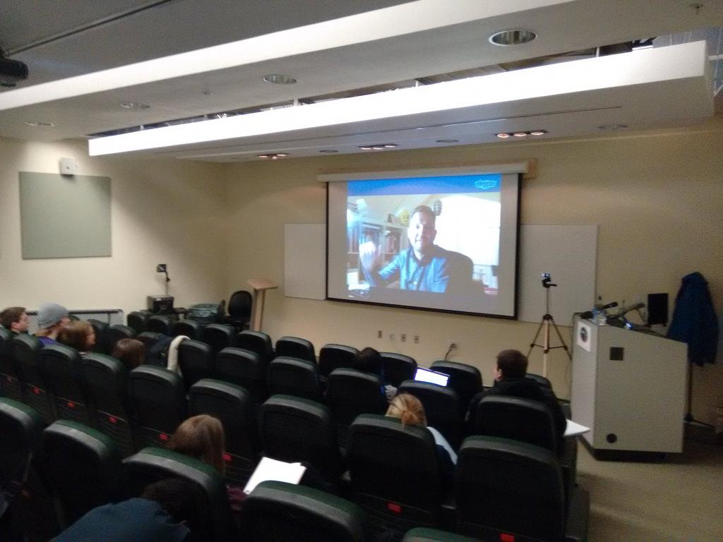 Ton Zijlstra via Skype in my Philosophy 105 Classroom