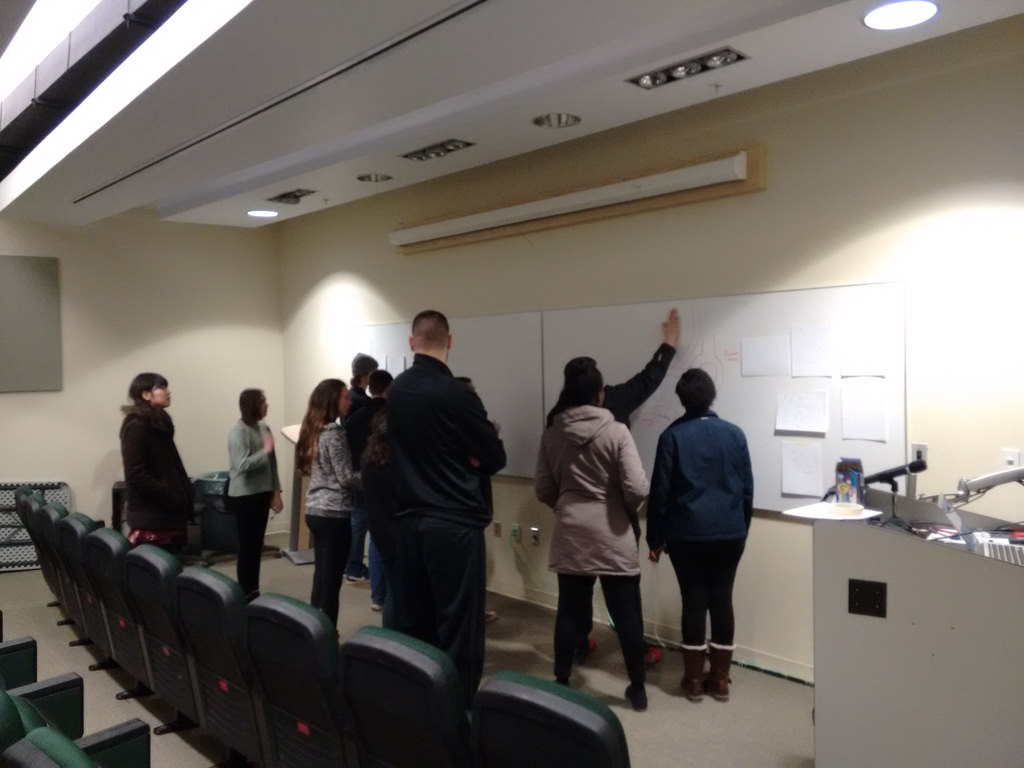 Philosophy 105 Students Mapping the Campus