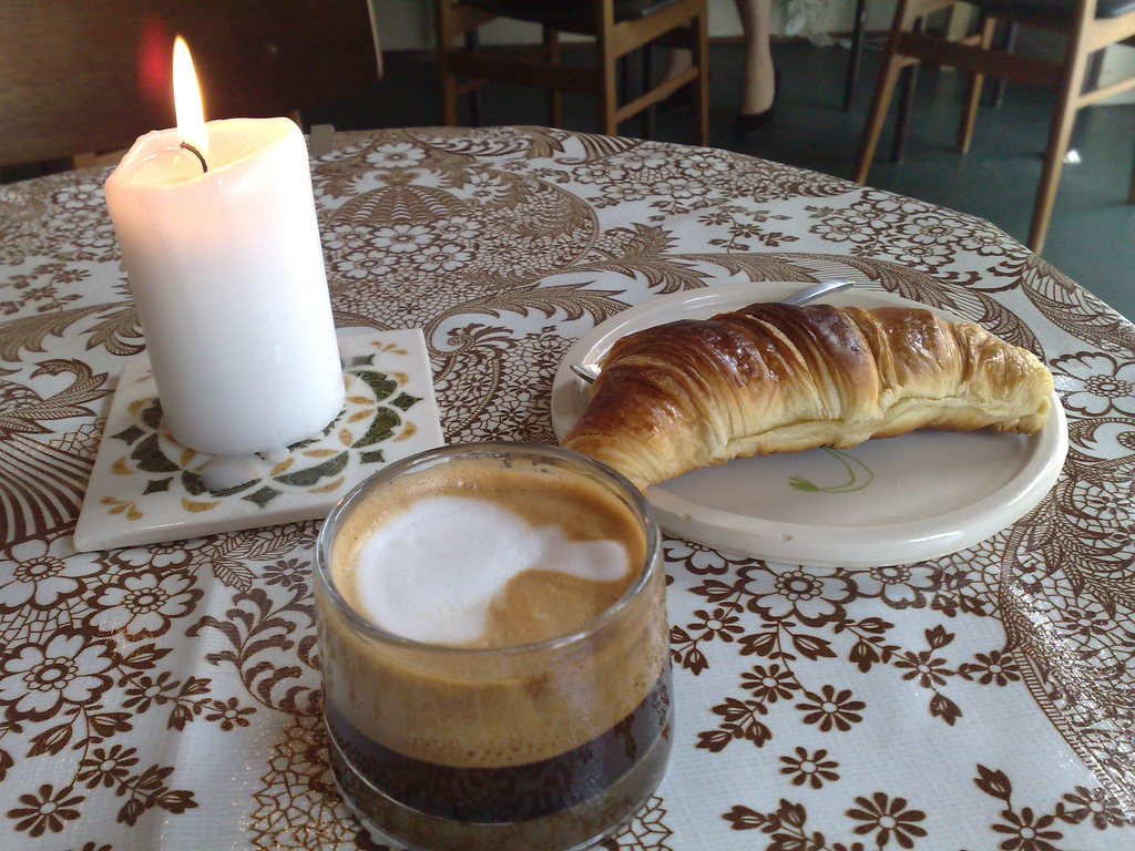 Coffee and Croissant at Riccos