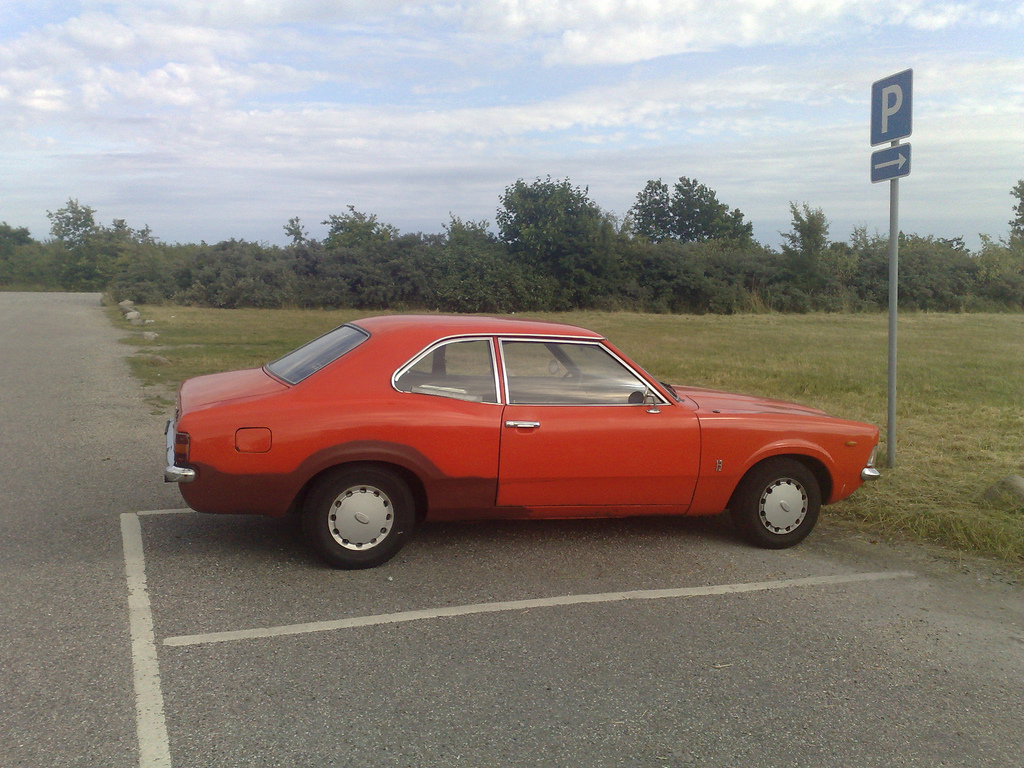 Orange Ford Cortina at Arken