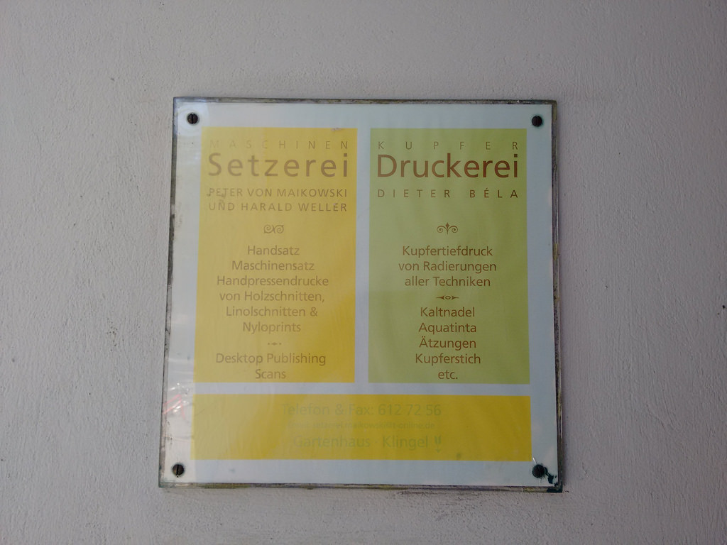 Setzerei Peter von Maikowski und Harald Weller