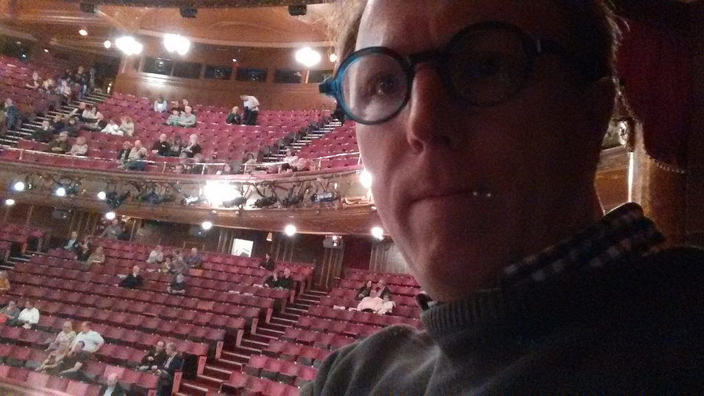 Selfie at Elvis Costello at London Palladium