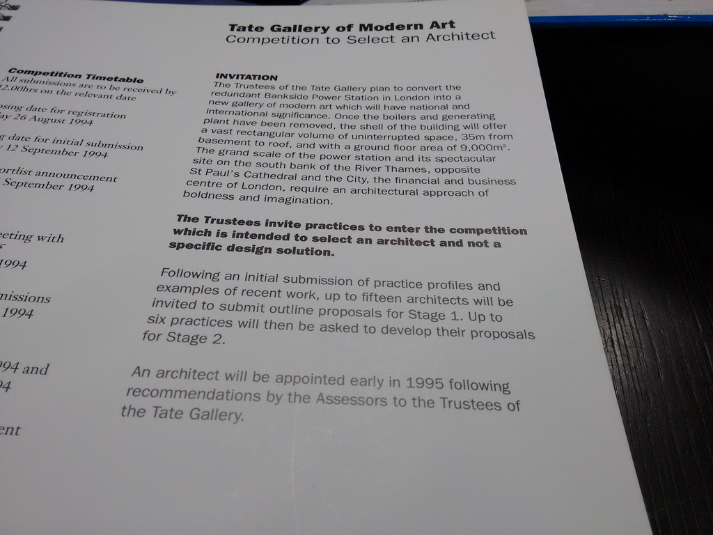 Tate Modern Competition Documents