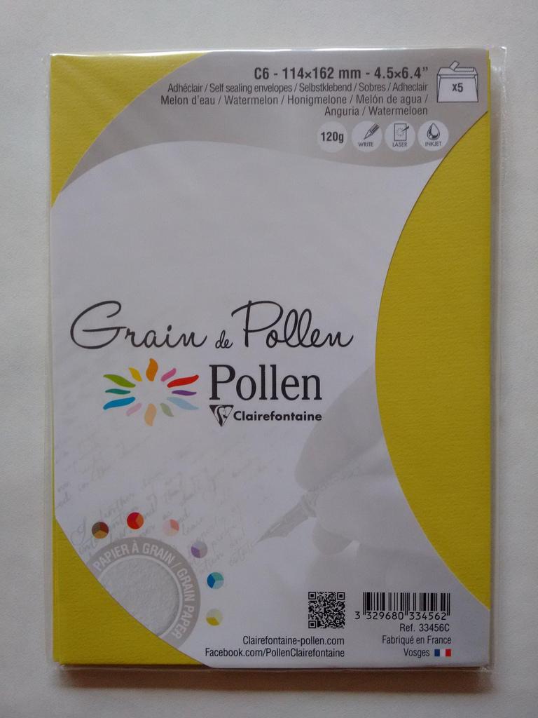 Grain de Pollen Envelopes