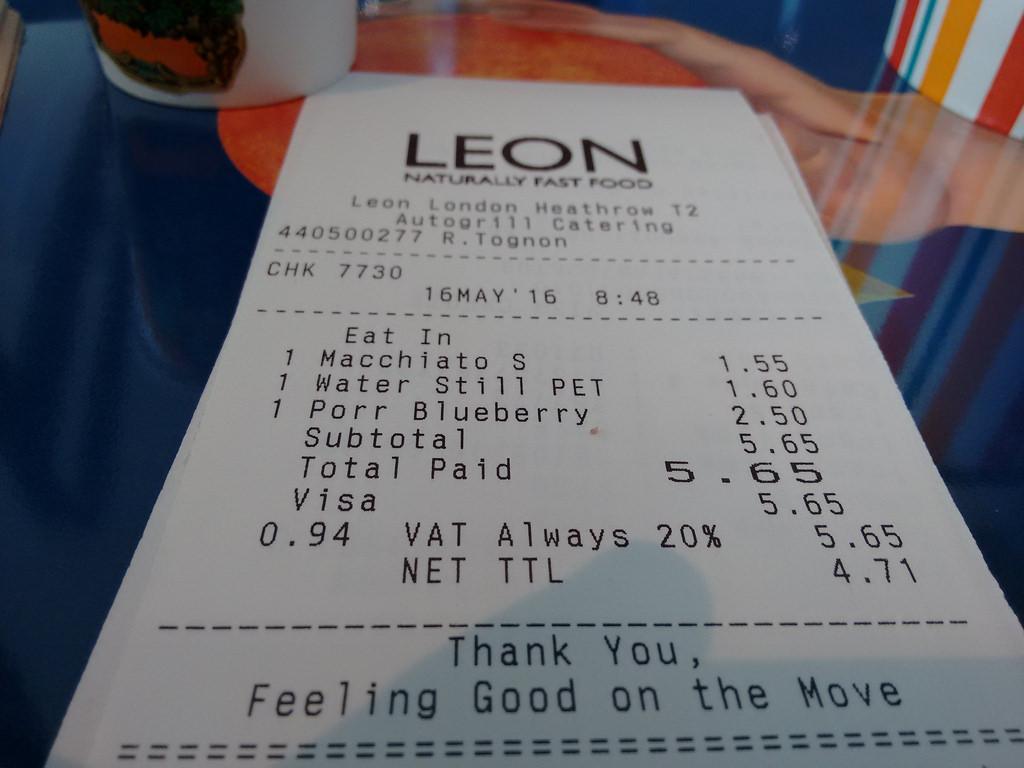 LEON Receipt