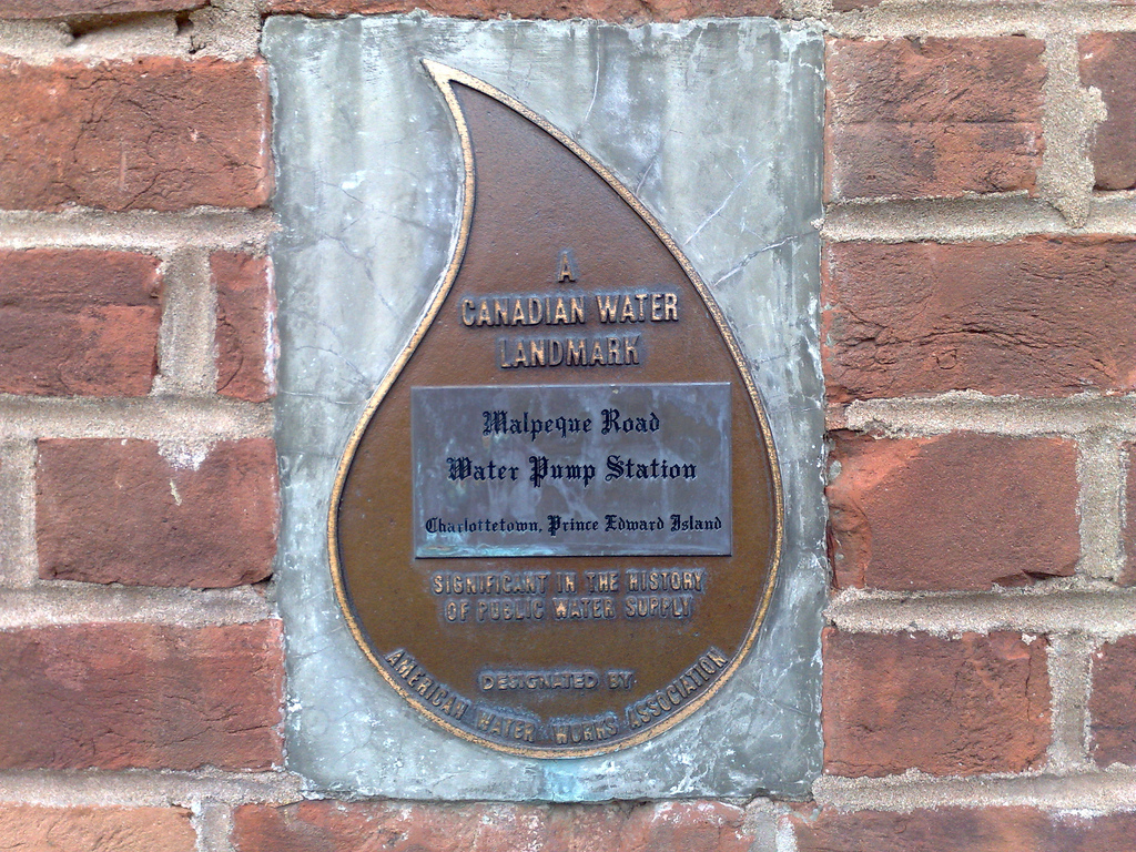 Malpeque Road Water Pump Station Plaque