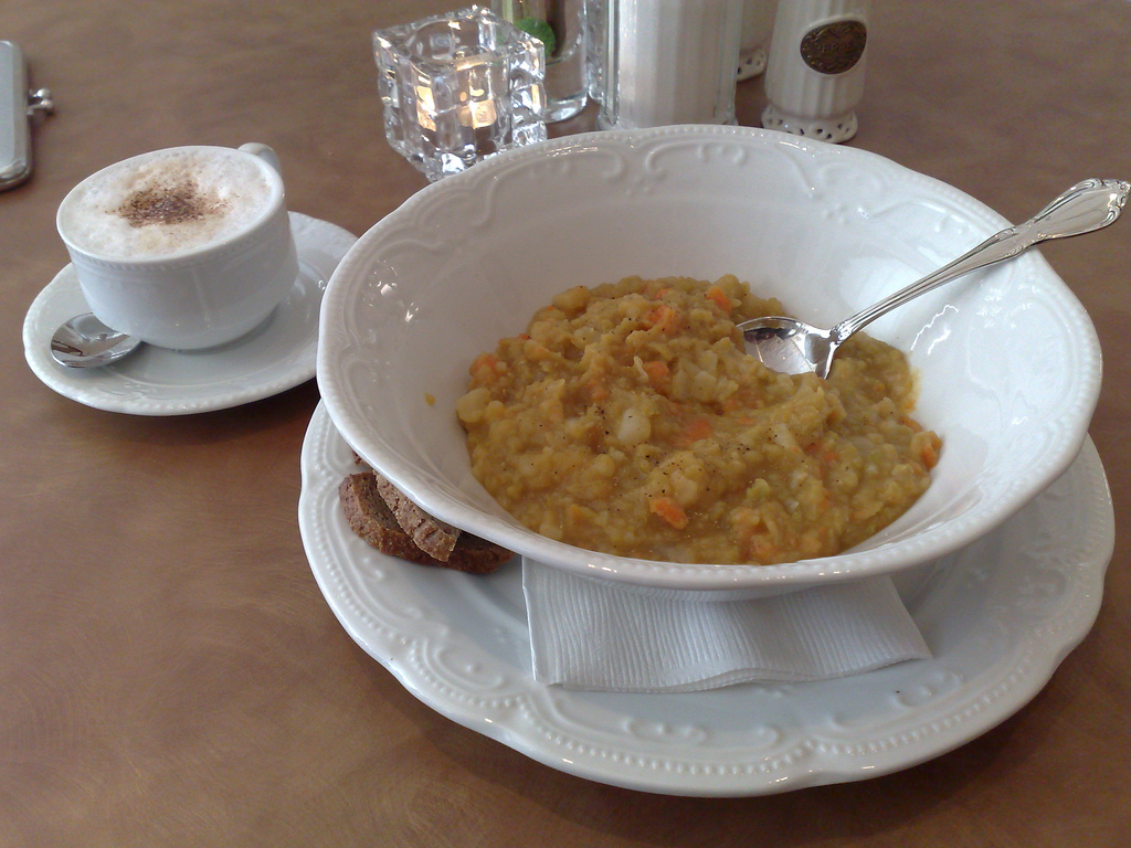 Cappuccino and Soup at Leonhard's