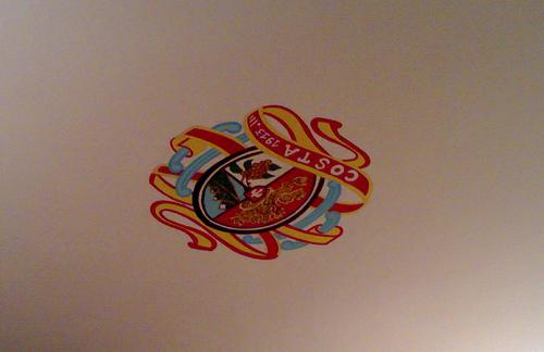 Crest on the Ceiling of Ristorante Costa