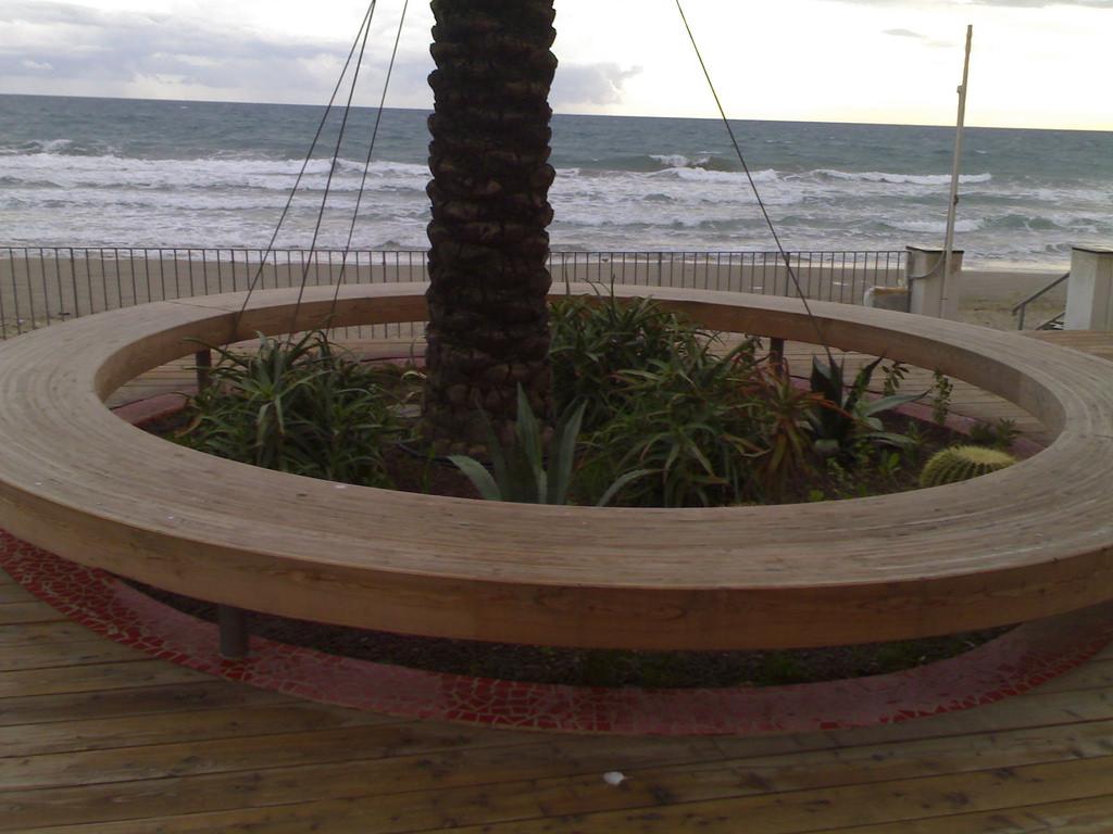 Round Wooden Seat