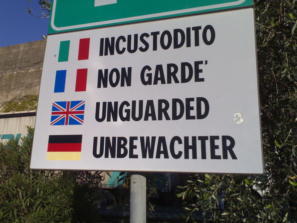 Unguarded in Four Languages