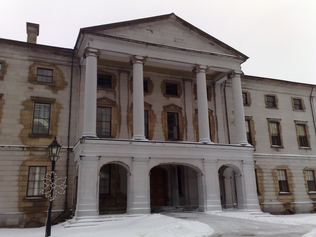 Province House covered in ice