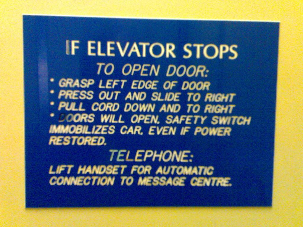 Hyndman and Company Elevator Sign