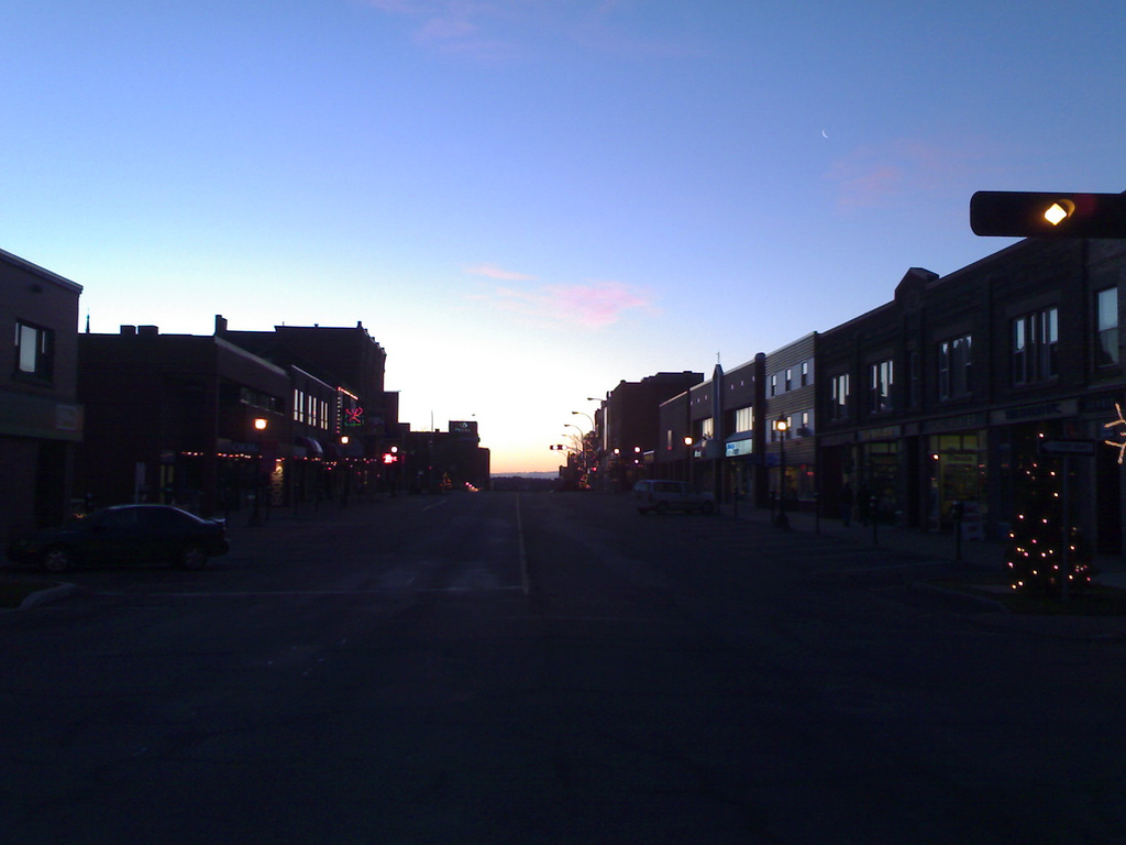 Sunrise over Queen Street