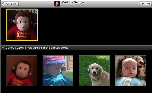 Curious George in iPhoto