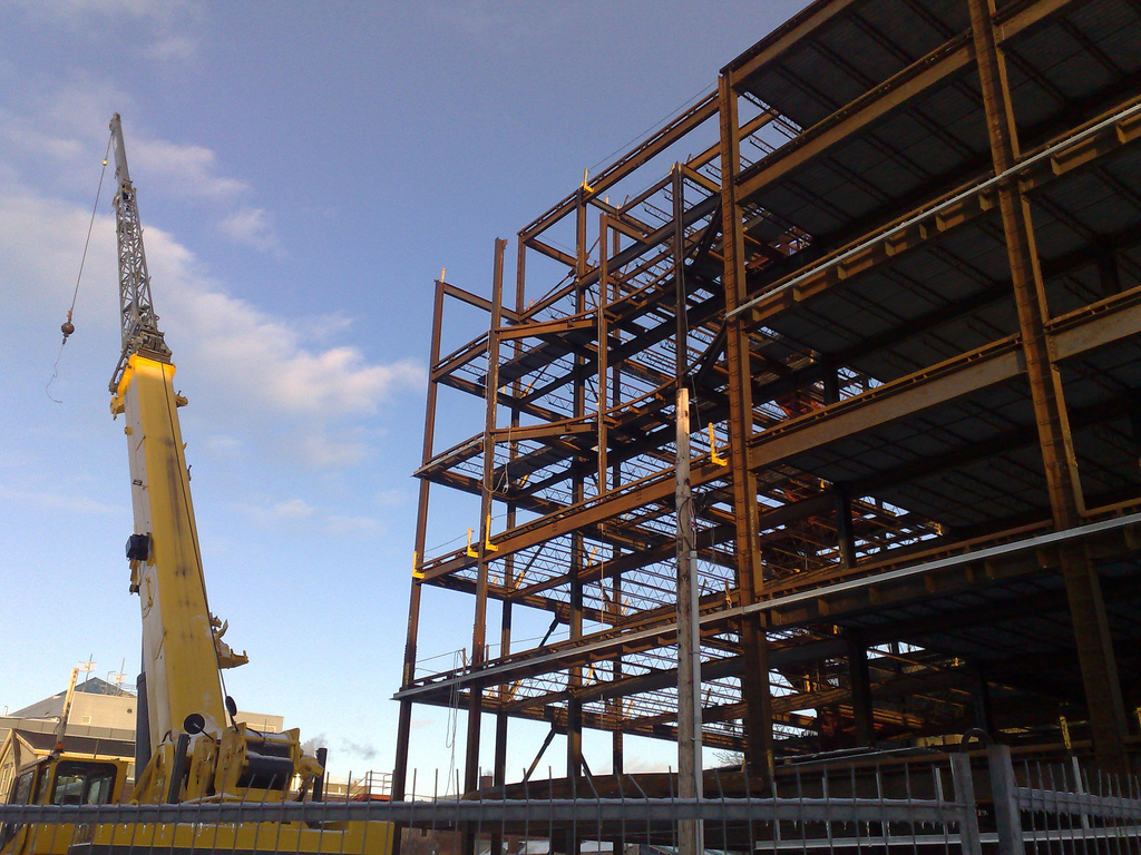Crane + Building