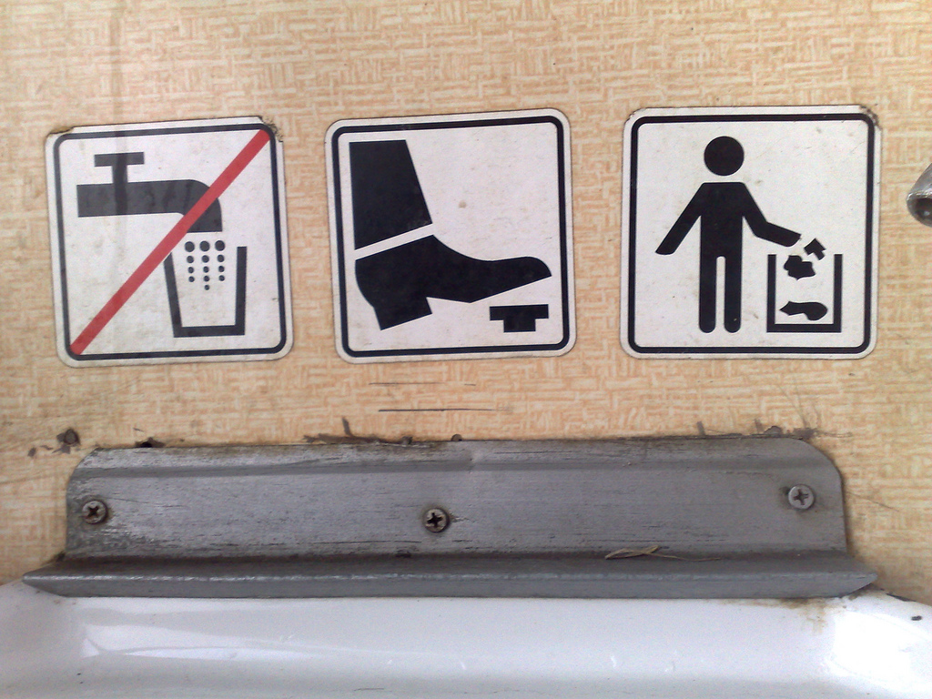 Slovak Train Washroom Signage