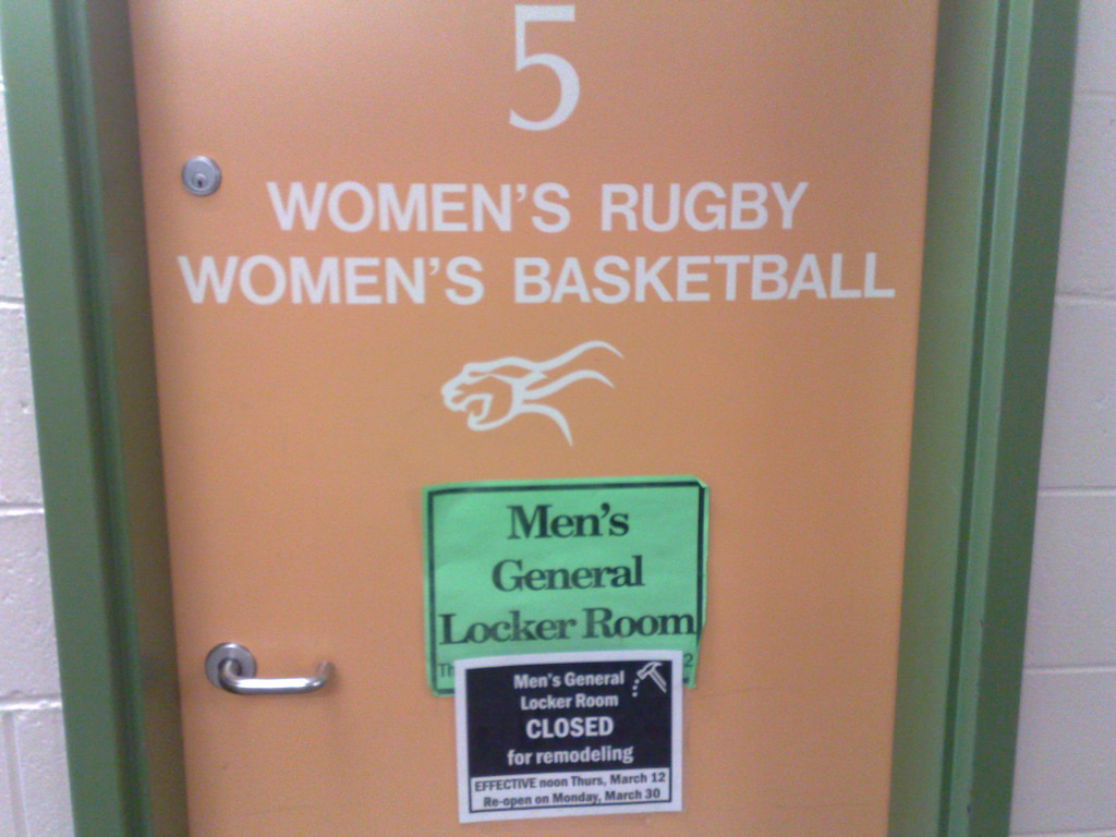 So is this the men's locker room or not?