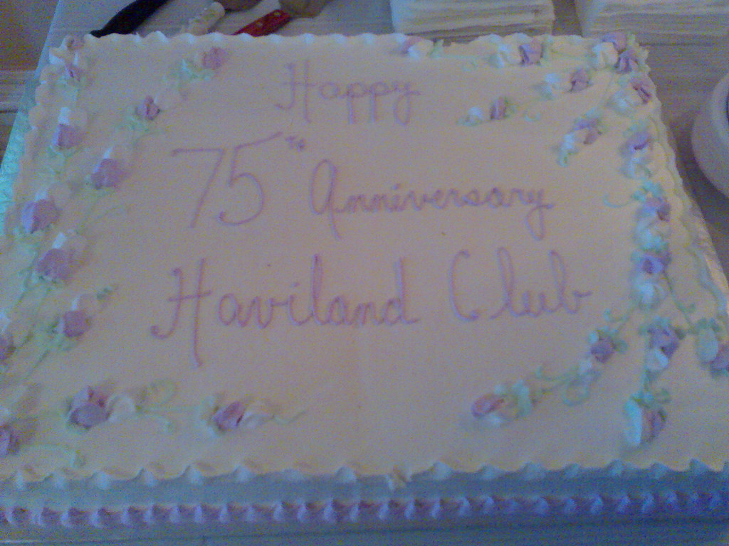 Haviland Club 75th Anniversary Cake