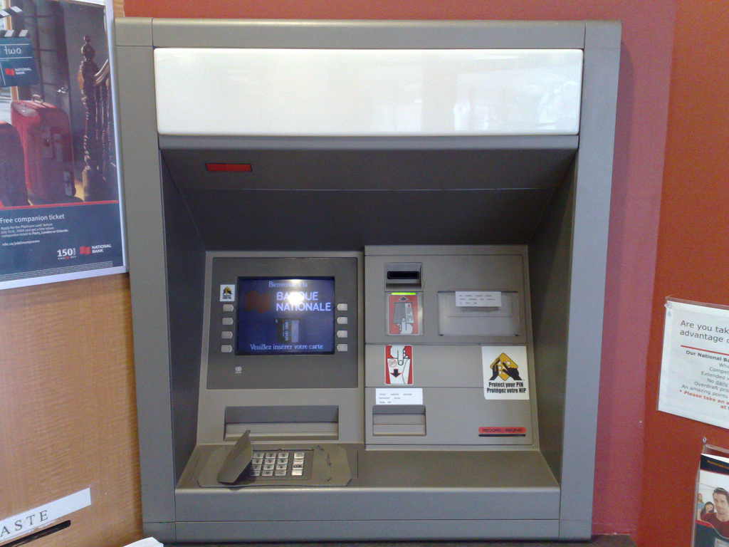 National Bank ATM: Before
