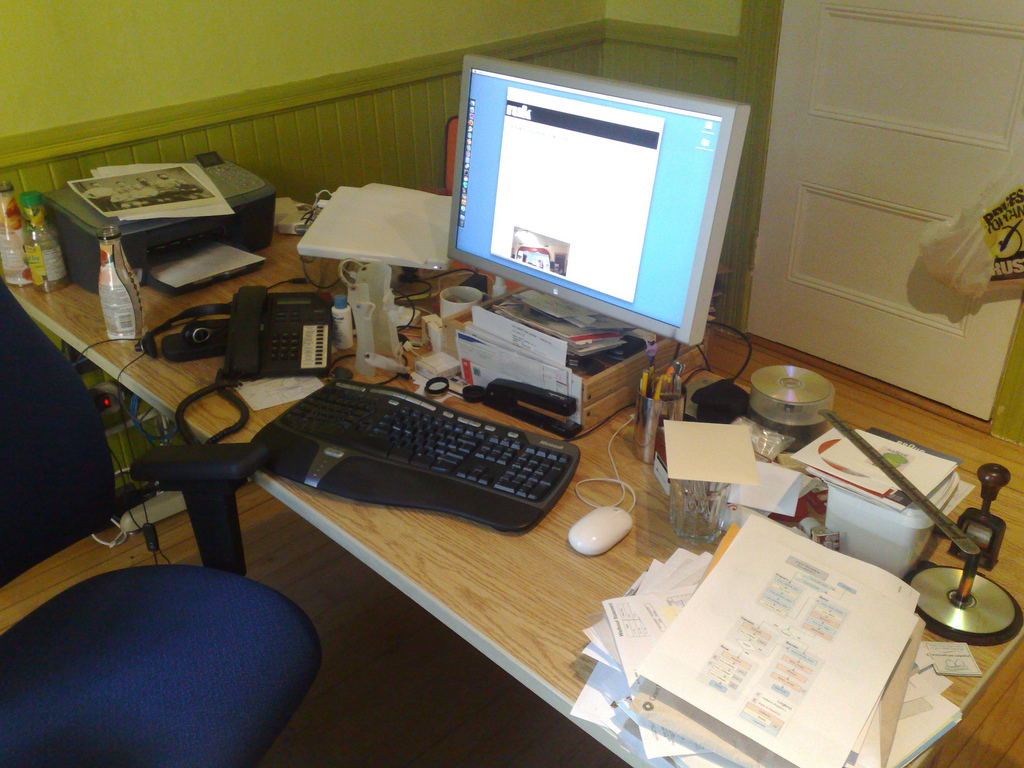 Desk Cleanup: Before