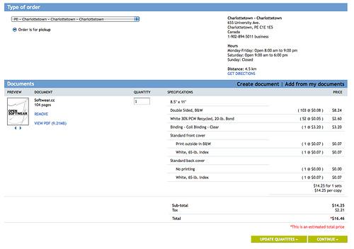 Staples Online Print Order