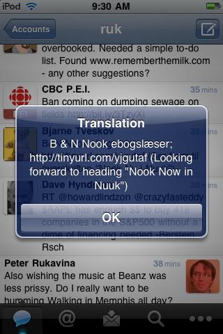 Translated Tweet