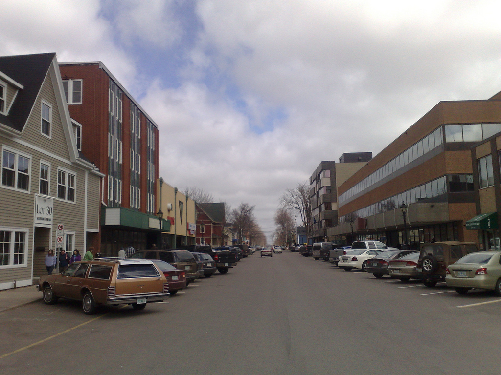 Contemporary view of Kent Street in Charlottetown