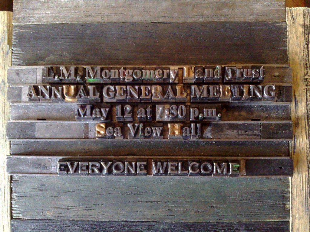 L.M. Montgomery Land Trust Annual General Meeting